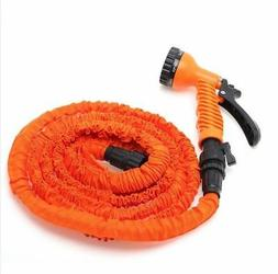 Latex 100 FT Expanding Flexible Garden Water Hose with Spray